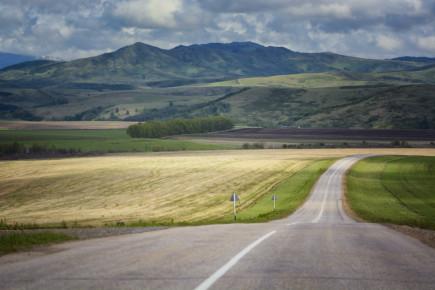 Чарышские горы. По пути между Усть-Калманкой и Чарышским.