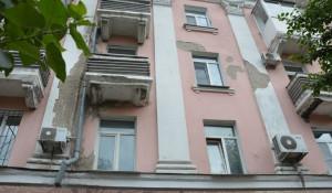 Ремонт фасада на пр. Ленина.