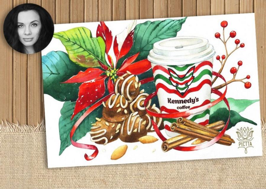 Лось Олег, лис Беспризорро и другие персонажи дизайнерских новогодних открыток Kennedy`s Coffee.
