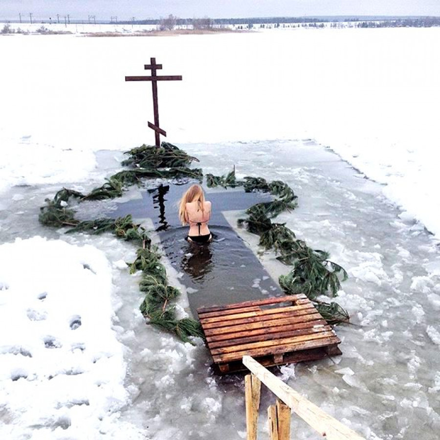 Крещение в России.