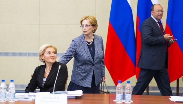 Ольга Голодец и Вероника Скворцова.