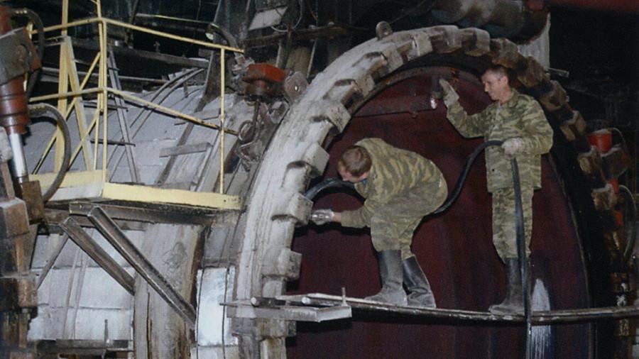 На Барнаульском заводе ячеистого бетона.