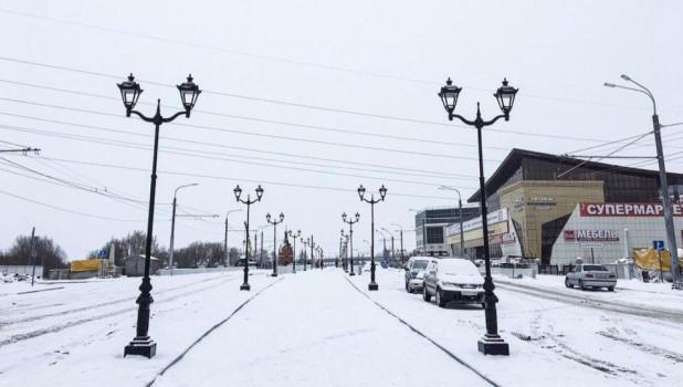 Обновленный мост через Барнаулку.