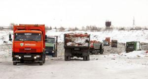 Действующий полигон ТБО в Барнауле.