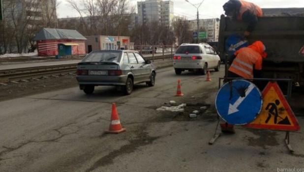 Ямочный ремонт в Барнауле.