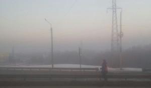 Смог в Барнауле, дорожник.