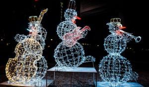 Новогодняя иллюминация в Барнауле.