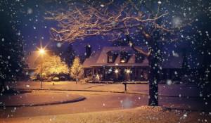 Снег. Зима. Дом.