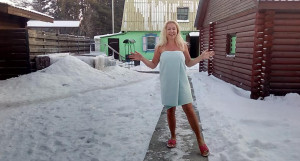 Алтайские девушки мороза не боятся. Январь 2018 года.
