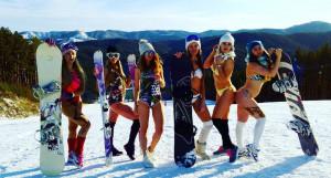 Сноубордистки в Белокурихе.