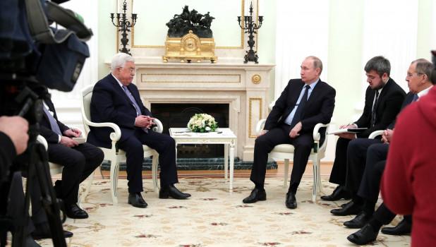 Переговоры Владимира Путина с Махмудом Аббасом. Москва, 12 февраля 2018 года.