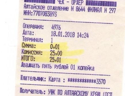 Долг 1 коп., комиссия 25 р. Фото: facebook.