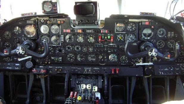 В кабине Ан-26.