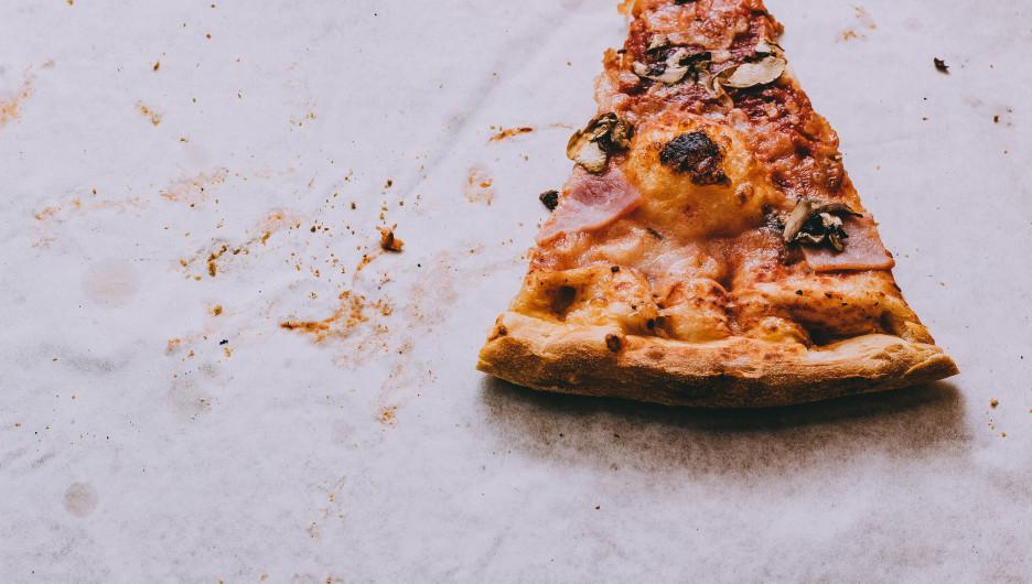Пицца. Еда.