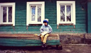 Ребенок, дом, недвижимость.