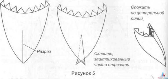 Как сделать клюв петуху из бумаги